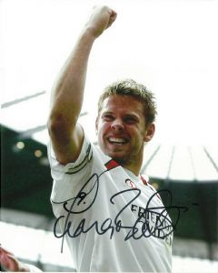 James Beattie FOOTBALLER, 10 X 8 genuine signed autograph,  10764